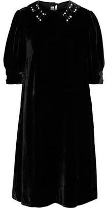 McQ Crystal-embellished Velvet Dress