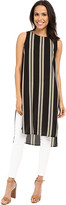 Vince Camuto Sleeveless Bohemian Stripe Long Tunic