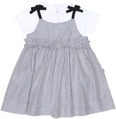 Thumbnail for your product : Il Gufo Baby cotton dress and onesie set