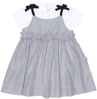 Il Gufo Baby cotton dress and onesie set