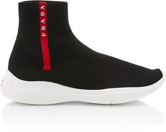 Prada High-Top Logo Sock Sneakers
