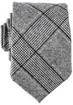 Black Grey and White Houndstooth Wool Tie