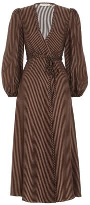 Zimmermann Silk Twill Wrap Dress