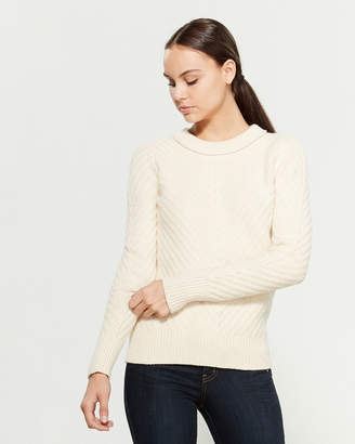 Equipment Cheree Diagonal Knit Sweater