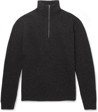 Norse Projects Fjord Slim-Fit Melange Merino Wool Half-Zip Sweater