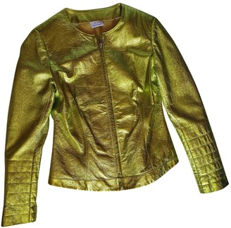 Stella Cadente Green Leather Leather Jacket for Women