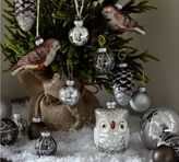 Pottery Barn Silver Critters Ornament Set - Set of 20