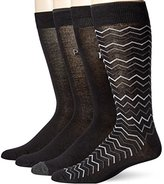 Perry Ellis Men's 4 Pack Soft Luxury Herringbone Basic Socks