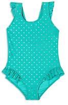 Hula Star Girls' Twinkle Star Ruffled Swimsuit - Little Kid