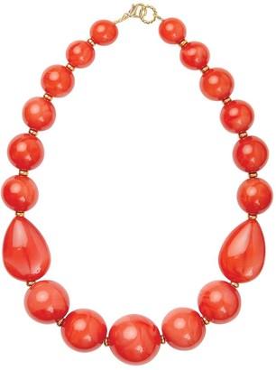 Pietrasanta Orange Coral Statement Necklace