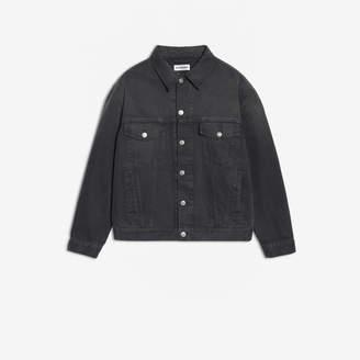 Balenciaga Logo Jacket in vintage black strassed denim