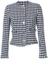 Thom Browne Houndstooth jacket - women - Cotton/Silk - 38