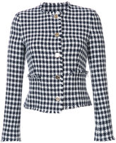 Thom Browne Houndstooth jacket - women - Silk/Cotton - 38