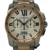 Cartier Calibre Silver gold and steel Watches