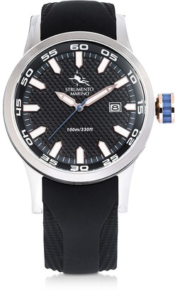 Black & Silver Speedboat Stainless Steel Men's Watch