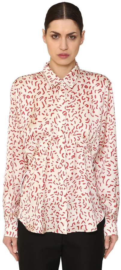 Aalto Printed Satin Shirt