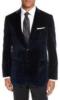 Hart Schaffner Marx Classic Fit Plaid Velvet Dinner Jacket