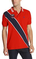 U.S. Polo Assn. Men's Diagonal Stripes Short Sleeve Pique Polo Shirt