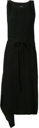 GOEN.J asymmetric drape shift dress