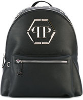 Philipp Plein Vehuel backpack - men - Leather/metal/Polyester - One Size