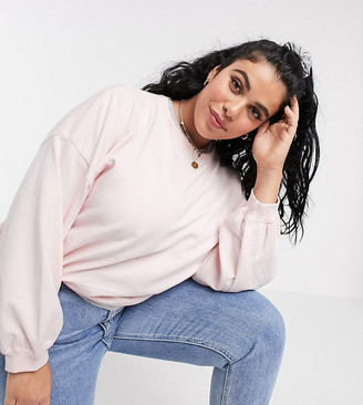 Urban Bliss Plus balloon sleeve sweater in pink