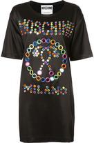 Moschino mirror embroidered logo dress