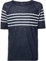Eleventy striped trim sweatshirt - men - Linen/Flax - M