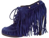 Mulberry Fringe Moccasin Booties