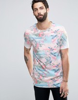 Asos T-Shirt With Japanese Style Floral Print