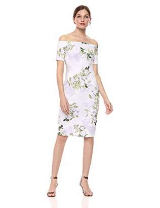 Calvin Klein Women's Short Sleeve Off The Shoulder Sheath Dress