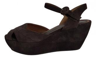 Marni Grey Suede Sandals