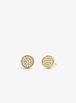 Michael Kors Precious Metal-Plated Sterling Silver Pave Studs
