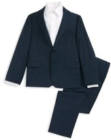 Michael Kors Boy's Bird'S Eye Stretch Wool Suit