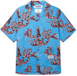 Neighborhood Aloha Camp-Collar Printed Woven Shirt