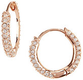 Nadri Pave Huggie Hoop Earrings