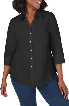Foxcroft Mary Non-Iron Stretch Cotton Button-Up Shirt