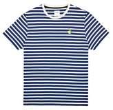 Burton Mens And Ecru Stripe T-Shirt With Lemon Embroidery