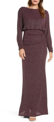 Vince Camuto Dolman Sleeve Gown With Cowl B