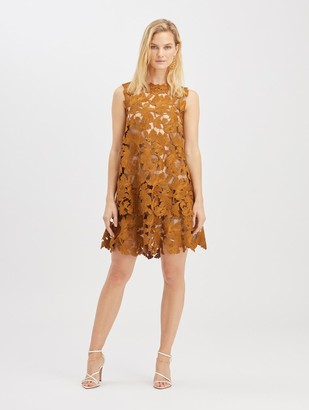 Oscar de la Renta Guipure Mini Dress