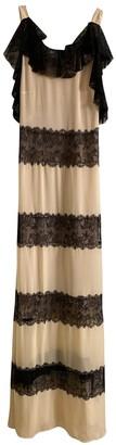 Philosophy di Alberta Ferretti Beige Lace Dress for Women