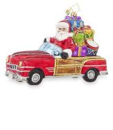 Christopher Radko Vintage Ride Santa Ornament