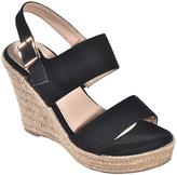 Black Laura Wedge Sandal