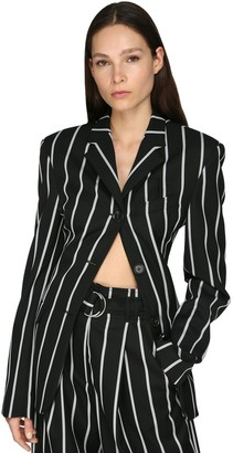 Proenza Schouler Striped Wool Twill Blazer