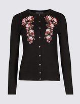 M&S Collection Floral Embroidered Cardigan