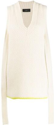 Alanui sleeveless cashmere knitted top
