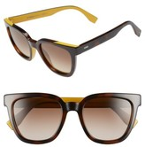 Fendi Women's 51Mm Sunglasses - Black/ Pink