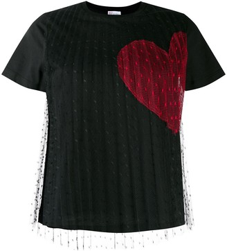 RED Valentino heart print T-shirt