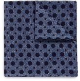 Lardini Floral polka dot silk-cotton twill pocket square