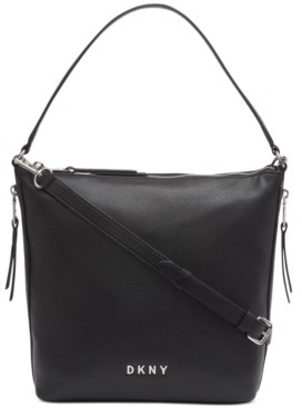 DKNY Tappen Leather Convertible Zip Hobo, Created for Macy's