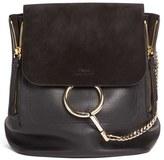 Chloé Medium Faye Suede & Leather Backpack - Black